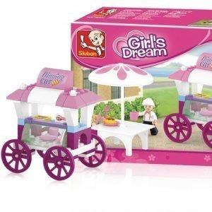Sluban Food Stall Sluban Girls Dream Sarjan Rakennuspalikat
