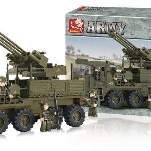 Sluban Heavy Equipment Transporter Sluban Army Sarjan Rakennuspalikat