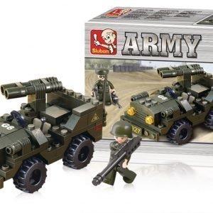 Sluban Jeep Sluban Army Sarjan Rakennuspalikat
