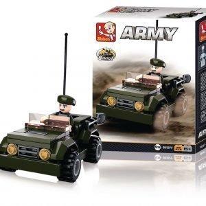 Sluban Jeeppi Sluban Army Sarjan Rakennuspalikat