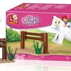 Sluban Jumping Horse Sluban Girls Dream Sarjan Rakennuspalikat