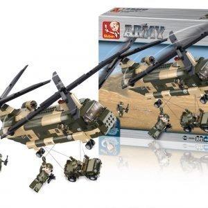 Sluban Kuljetushelikopteri Sluban Army Sarjan Rakennuspalikat