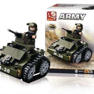 Sluban Panssaroitu Auto Sluban Army Sarjan Rakennuspalikat
