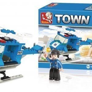 Sluban Police Helicopter Sluban Town Sarjan Rakennuspalikat