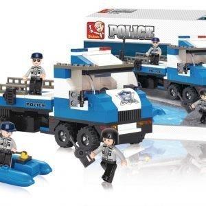 Sluban Police Truck Sluban Police Sarjan Rakennuspalikat