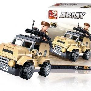 Sluban Poliisiauto Sluban Army Sarjan Rakennuspalikat