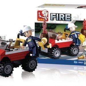 Sluban Rakennuspalikat Fire Sarja Fire Jeep