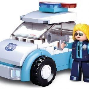 Sluban Rakennuspalikat Tyttöjen Unelma Sarja Police Woman With Police Car