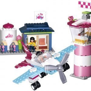 Sluban Small Airport Sluban Girls Dream Sarjan Rakennuspalikat