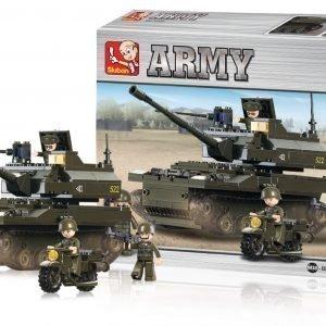 Sluban Tank Sluban Army Sarjan Rakennuspalikat 107807