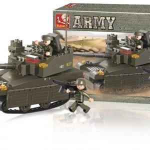 Sluban Tank Sluban Army Sarjan Rakennuspalikat 107810