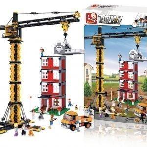 Sluban Tower Crane Sluban Town Sarjan Rakennuspalikat
