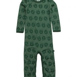 Småfolk Body Suit Ls Merino Wool. Apples