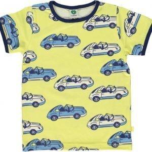 Småfolk Car Ss T-Paita Keltainen