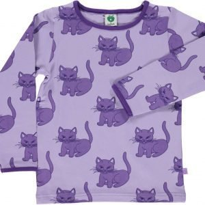 Småfolk Cat Ls Paita Lila