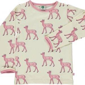 Småfolk Deer Ls Paita Cream