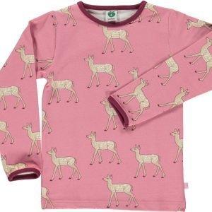 Småfolk Deer Ls Paita Vaaleanpunainen