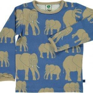 Småfolk Elefant Ls Paita Sininen