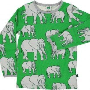 Småfolk Elefant Ls Paita Vihreä