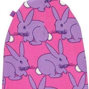 Småfolk Hood Beanie Print Pipo Purple