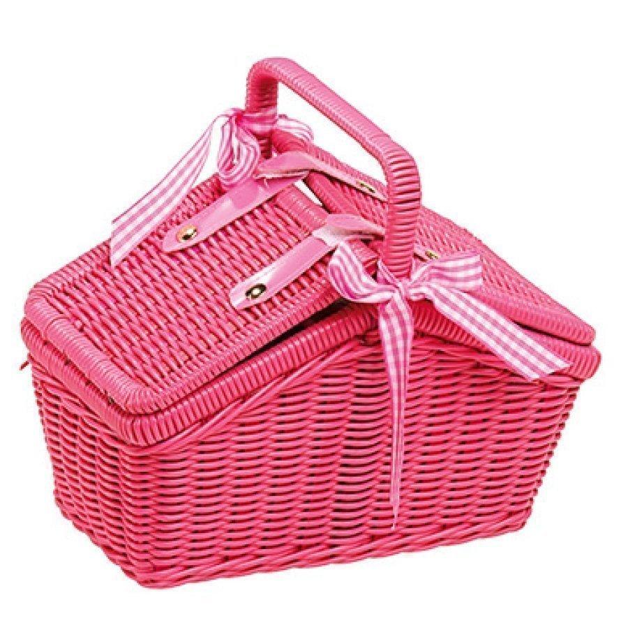 Small Foot Piknik Kori Vaaleanpunainen