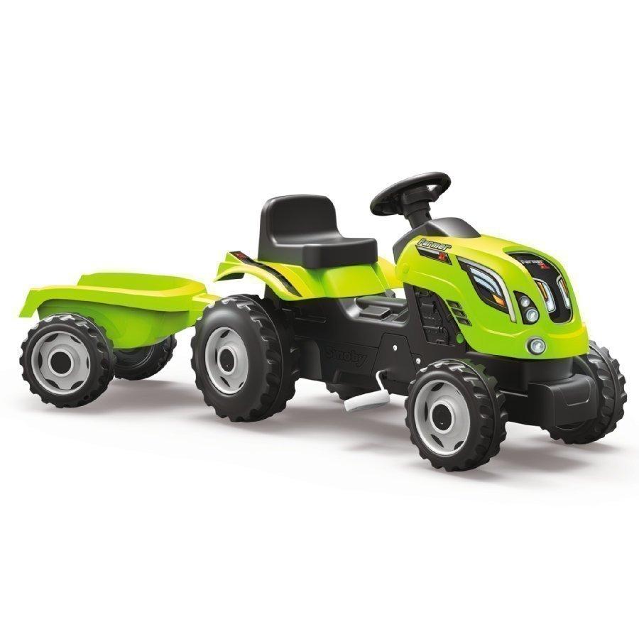 Smoby Farmer Xl Traktori Peräkärryllä Vihreä