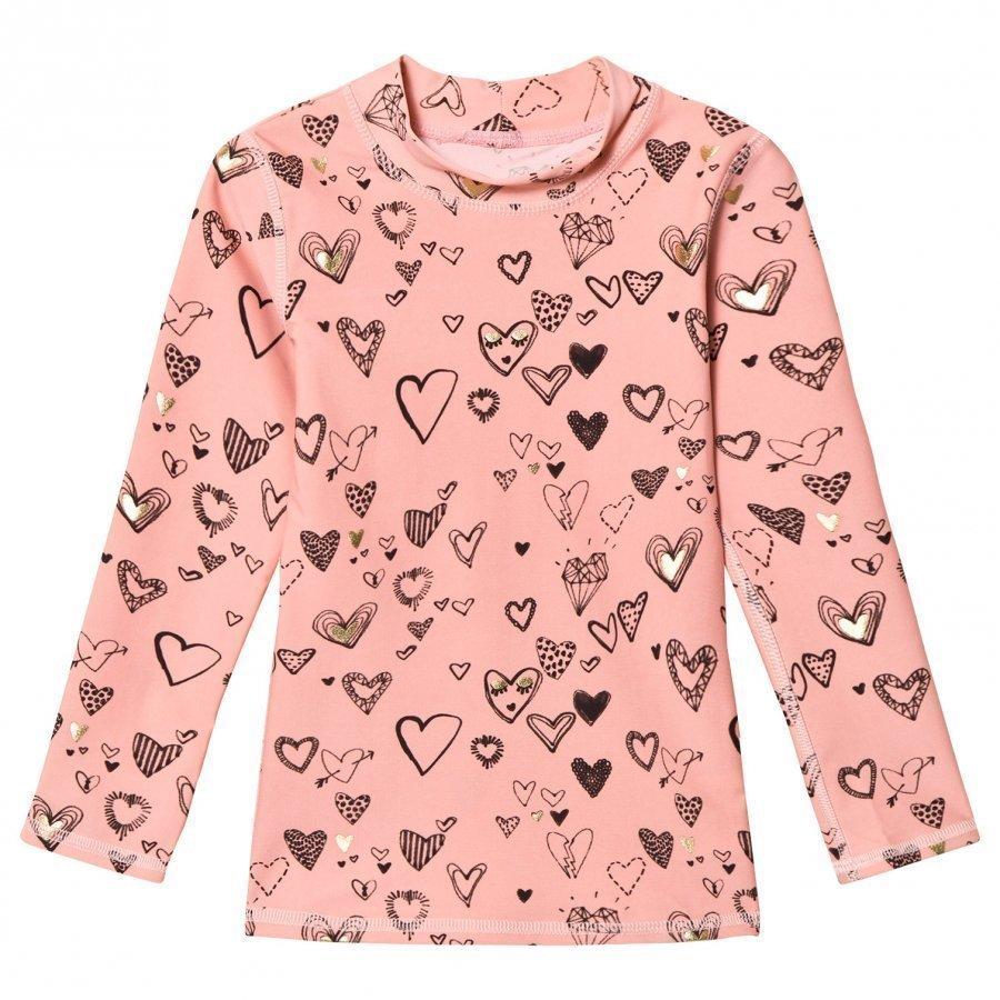 Soft Gallery Astin Sun Shirt Coral Almond Pitkähihainen T-Paita