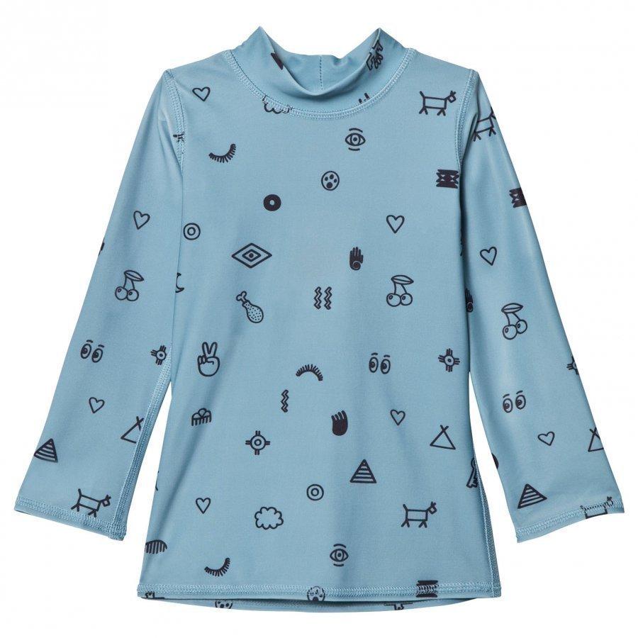 Soft Gallery Astin Swim Shirt Smoke Blue Uv-Paita