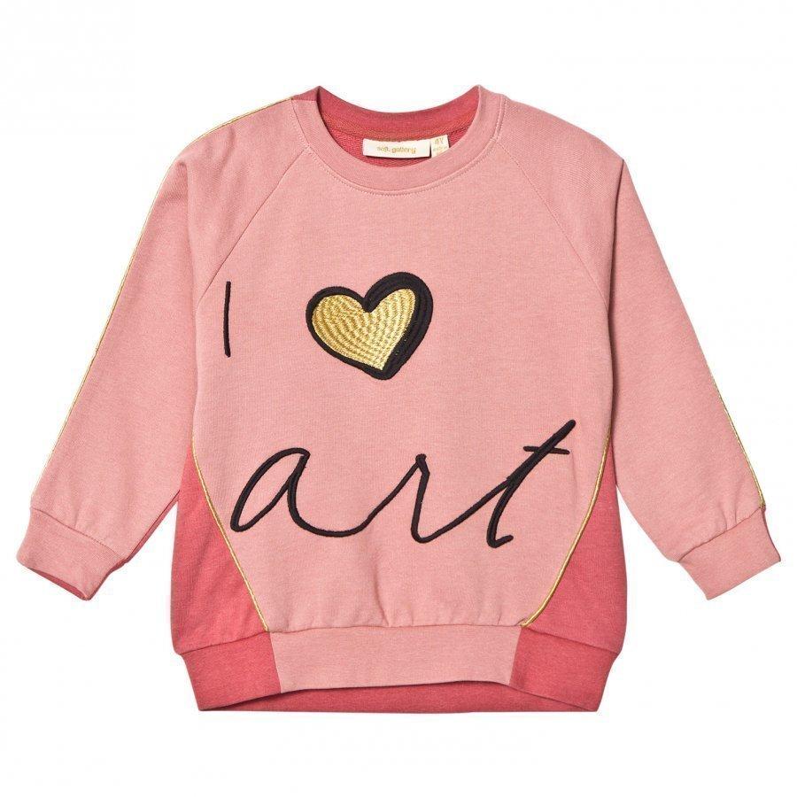 Soft Gallery Babs Sweatshirt Rosette/Faded Rose Love Art Oloasun Paita