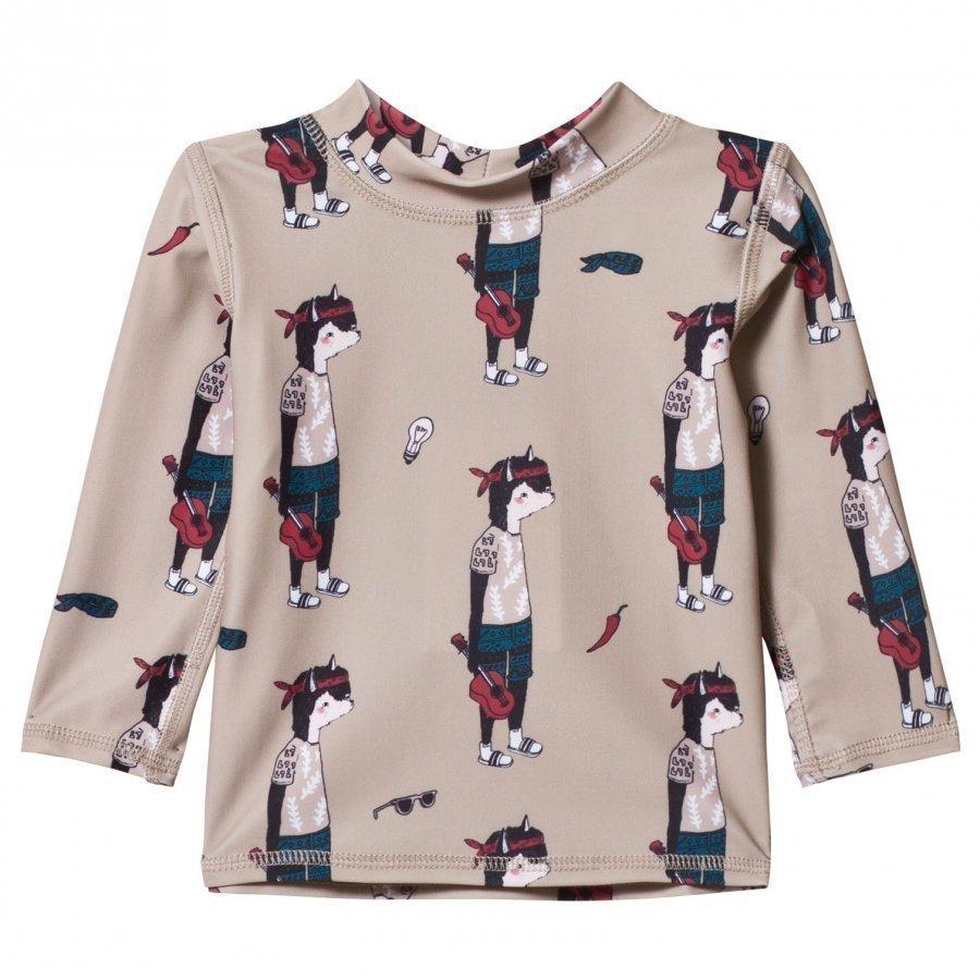 Soft Gallery Baby Astin Swim Shirt Oxford Tan Uv-Paita