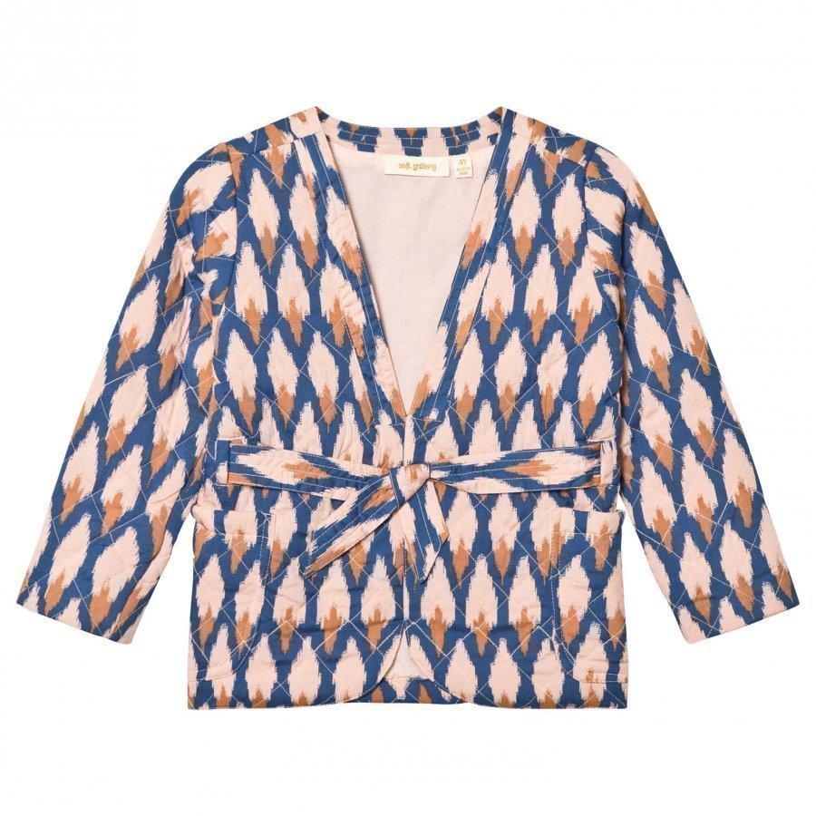 Soft Gallery Ellis Jacket Pale Blush Ikat Blue Bleiseri