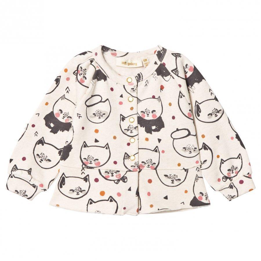 Soft Gallery June Cardigan Cream Melange Kittens Neuletakki