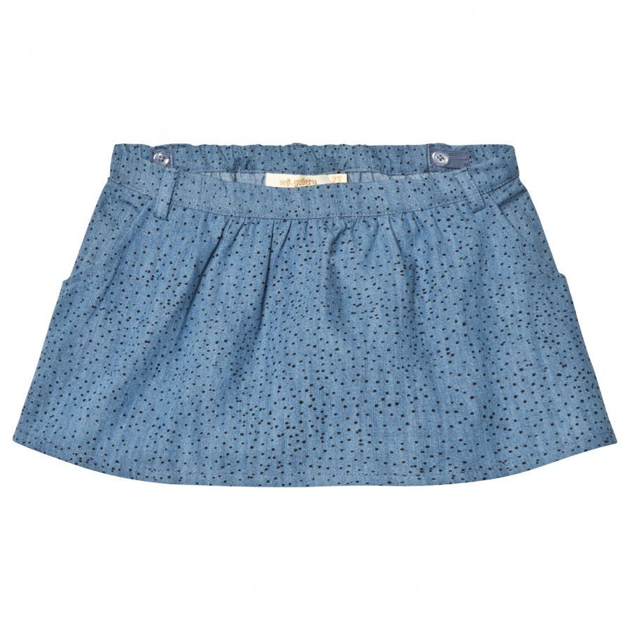 Soft Gallery Lola Skirt Denim Blue Minidots Lyhyt Hame