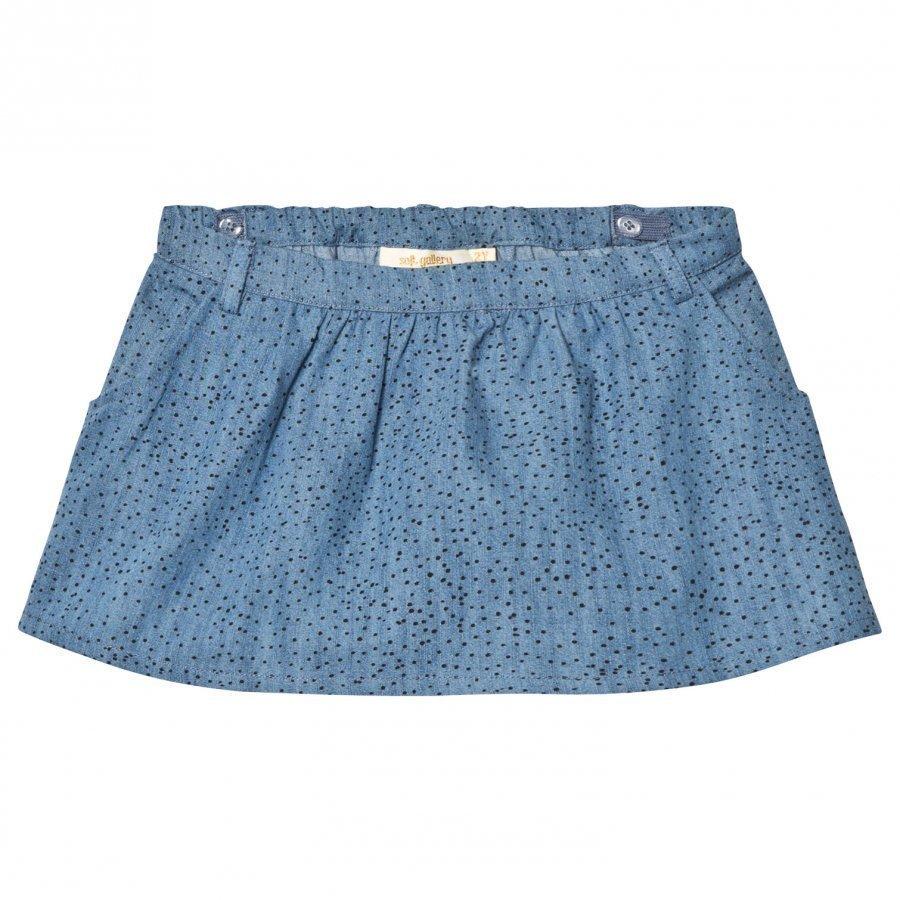 Soft Gallery Lola Skirt Denim Blue Minidots Lyhyt Hame