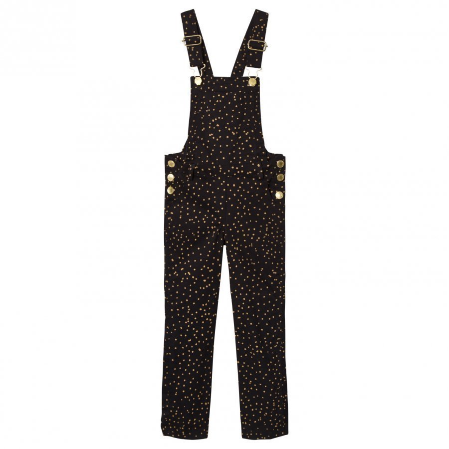 Soft Gallery Natalie Dungaress Jet Black Dotties Lappuhaalari