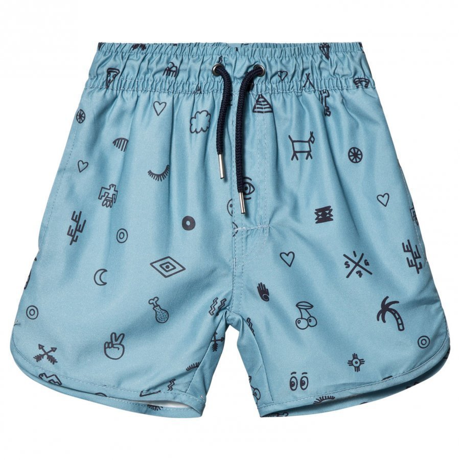 Soft Gallery Oliver Swim Trunks Smoke Blue Uimashortsit