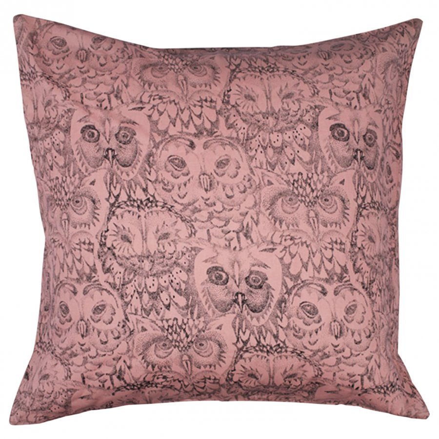 Soft Gallery Owl Big Pillow Case Coral Tyynyliina