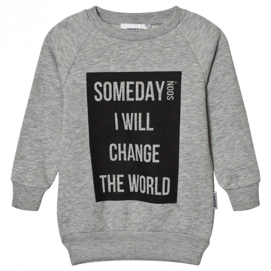 Someday Soon Ivan Sweatshirt Grey Melange Oloasun Paita