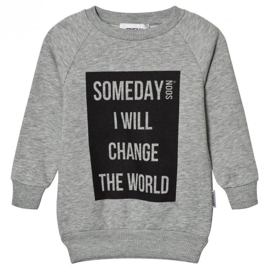 Someday Soon Ivan Sweatshirt Grey Melange Oloasun Paita