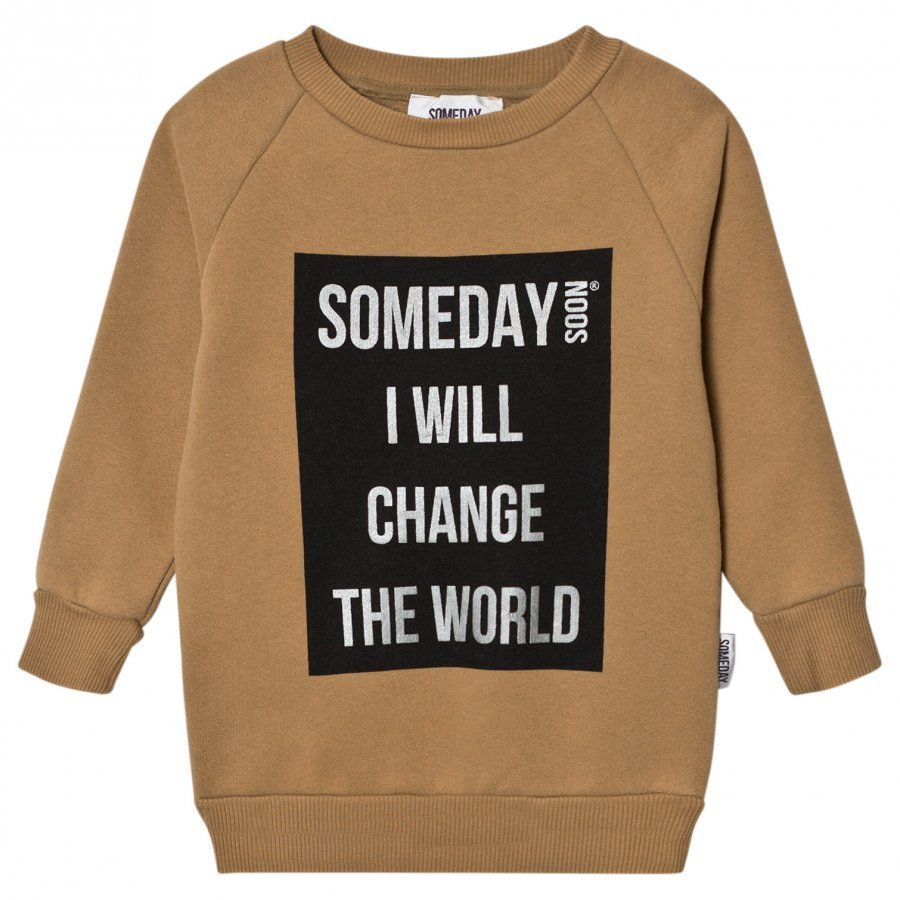 Someday Soon Ivan Sweatshirt Khaki Oloasun Paita