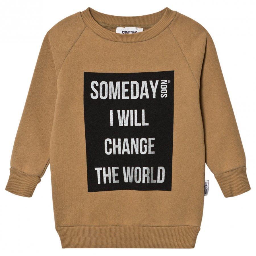 Someday Soon Ivan Sweatshirt Khaki Oloasun Paita