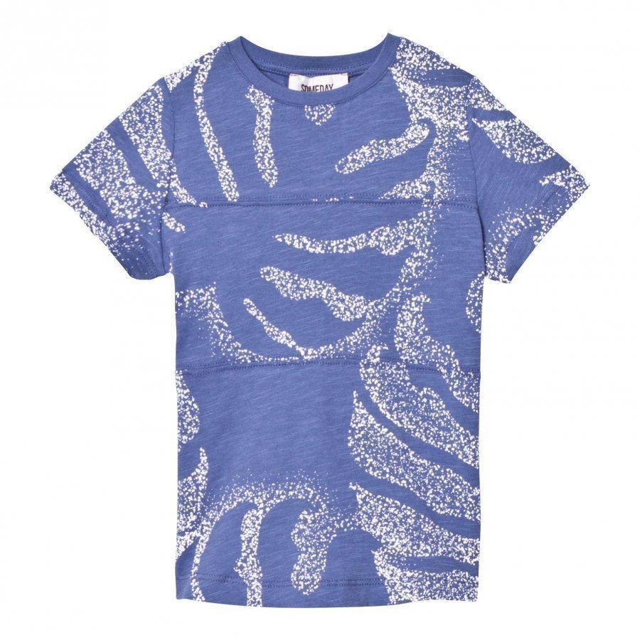 Someday Soon Palm T-Shirt Blue T-Paita