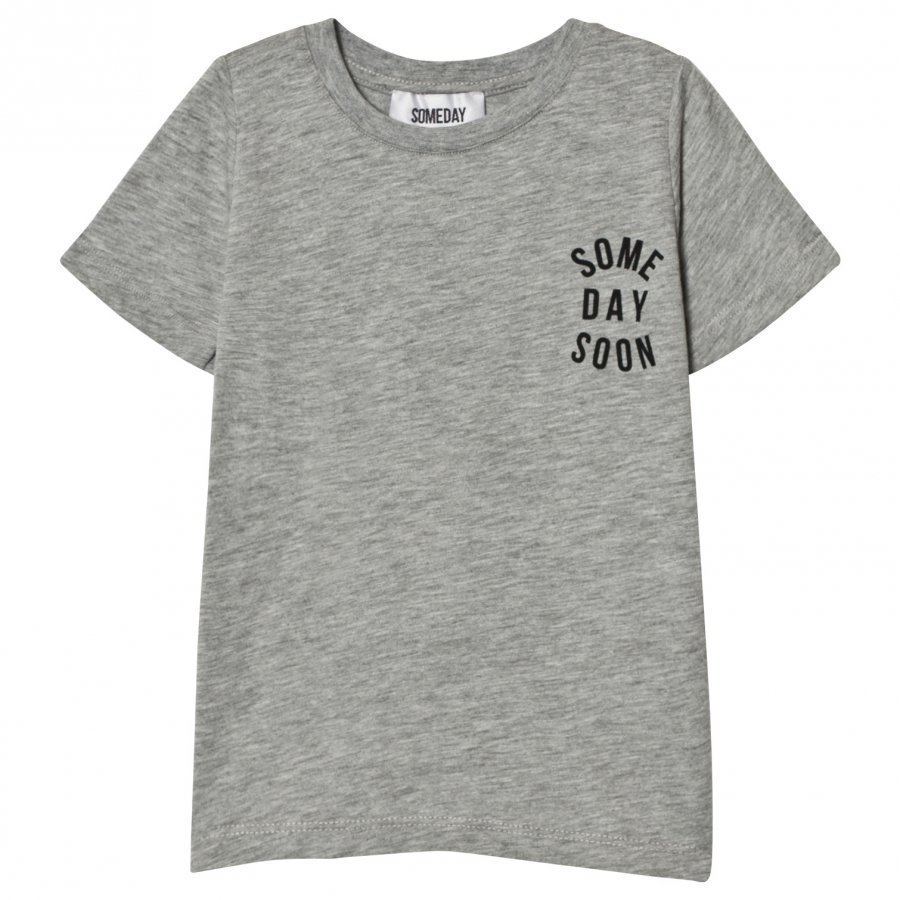 Someday Soon Revolution Tee Grey Melange T-Paita
