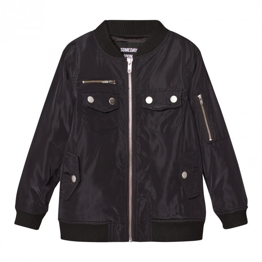 Someday Soon Romeo Jacket Black Bomber Takki