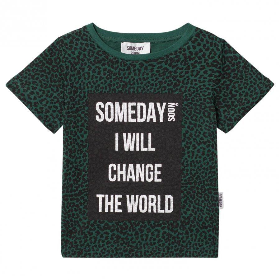 Someday Soon Someday Green Leo Ao T-Paita