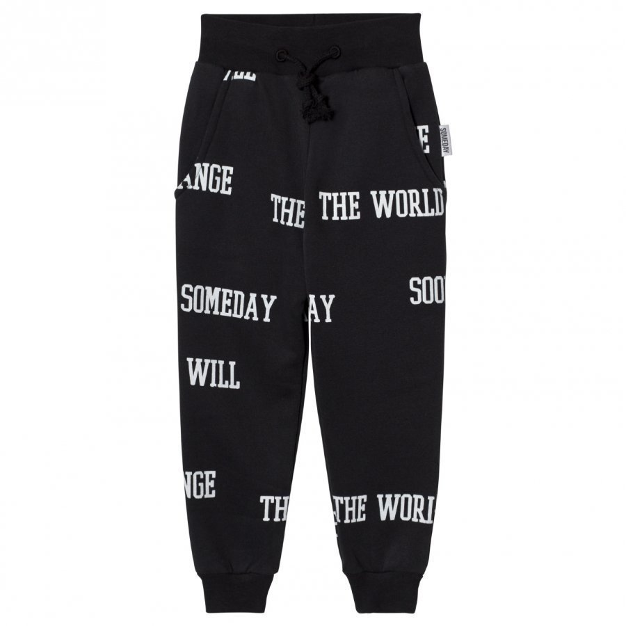 Someday Soon World Pants Black Verryttelyhousut