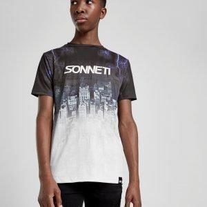 Sonneti City Fade T-Shirt Musta