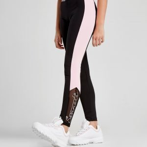 Sonneti Girls' Script Mesh Leggings Musta