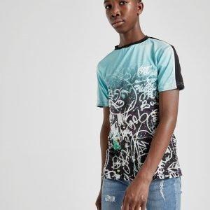Sonneti Graffiti T-Shirt Teal / Black
