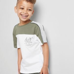 Sonneti Mini Como Poly Mix T-Shirt Khaki / White